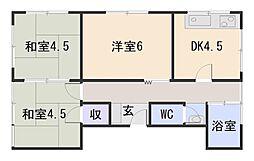 古川マンション西[2階]の間取り