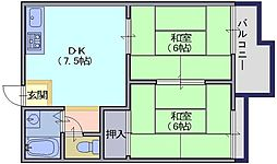 メゾン松塚[203号室]の間取り