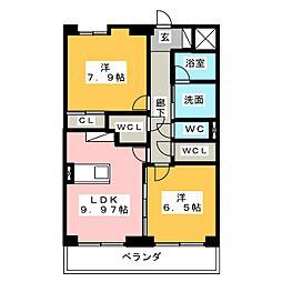ムーブル ガレ[3階]の間取り