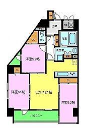 セイクレッド[2階]の間取り