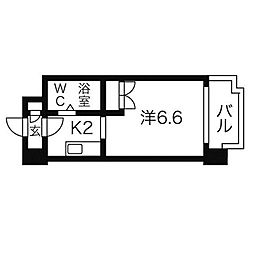 あおばビルN25[4階]の間取り