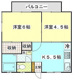 津久井ミネルバ館[2階]の間取り