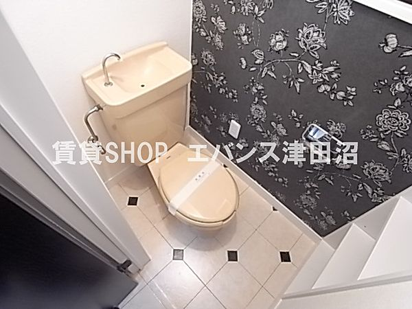 千葉県船橋市前原西6丁目の賃貸マンションのトイレもきれいです