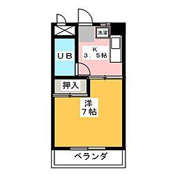 マンション青嶽[1階]の間取り