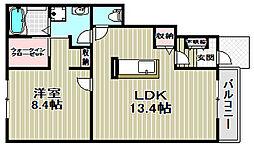 コンフォール鳳[1階]の間取り