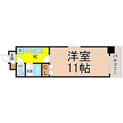 レージュAsano[4階]の間取り