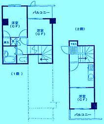 セザール第2鷺沼[1階]の間取り