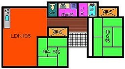 [一戸建] 宮崎県都城市下長飯町 の賃貸【宮崎県 / 都城市】の間取り