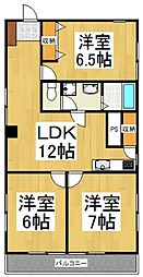 JUN東村山A棟[2階]の間取り