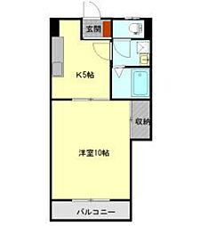 カイセイ三芳[1階]の間取り