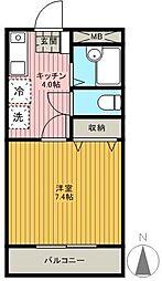 MfマンションII[204号室]の間取り