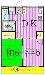 メゾンドユキ西綾瀬[3階]の間取り