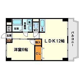 西中島東行マンション[7階]の間取り