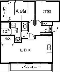 ロイヤルコートII番館[2階]の間取り