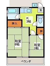 光和荘[2階]の間取り