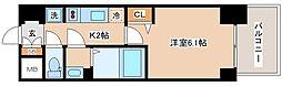 JR山陽本線 兵庫駅 徒歩10分の賃貸マンション 14階1Kの間取り