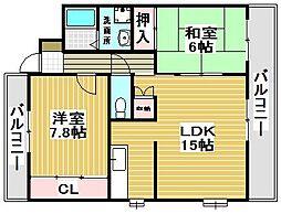 サンライフマンション[205号室]の間取り