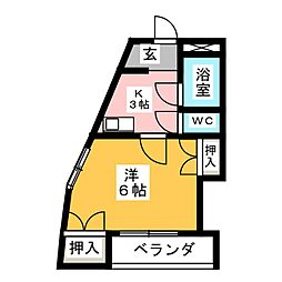 Kハウス[3階]の間取り