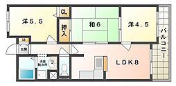 サンジェール増井[2階]の間取り