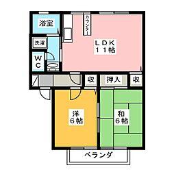サンガーデン緑ヶ丘C[2階]の間取り