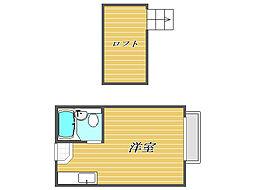 埼玉県川口市並木元町の賃貸アパートの間取り