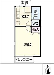 カルムYM[2階]の間取り