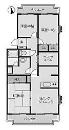 リヴェール町田3[2階]の間取り
