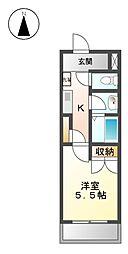 アーク宝地[5階]の間取り