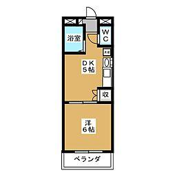 Andante19[4階]の間取り