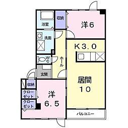 北海道札幌市東区東雁来九条2丁目の賃貸アパートの間取り