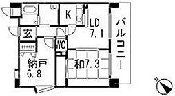 ハートランド大町[402号室]の間取り