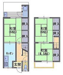 [テラスハウス] 京都府向日市上植野町円山 の賃貸【/】の間取り
