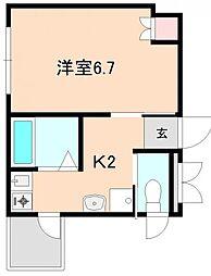 上野西グランハイツB[301号室]の間取り