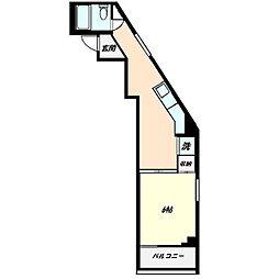 金子ビル[0406号室]の間取り