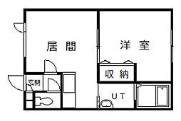 グランビュー永山[207号室]の間取り