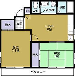 小林マンション[2階]の間取り