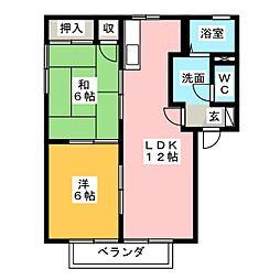 コンフォートベル B棟[2階]の間取り