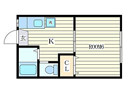 第2久野マンション[2階]の間取り