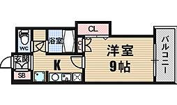 コンソラーレ難波[1階]の間取り