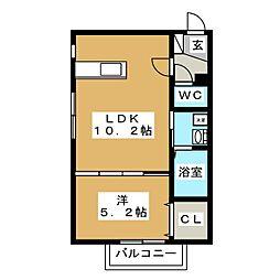アルーアNANGO[2階]の間取り