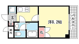 STAGE-ONE[502号室]の間取り
