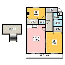 ピュアレジデンス[4階]の間取り