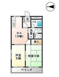 シティハイム22[1階]の間取り
