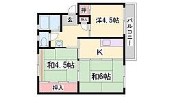UR鈴蘭台第5[2階]の間取り
