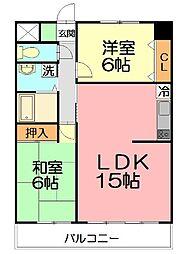 リステージ湘南川名[4階]の間取り