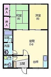 福寿荘[6号室]の間取り