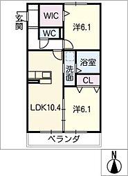 仮)D−room大垣市三塚町[3階]の間取り