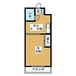 サントピアマンション[2階]の間取り