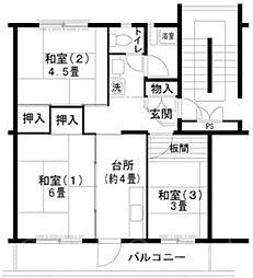 UR泉北庭代台二丁[5階]の間取り