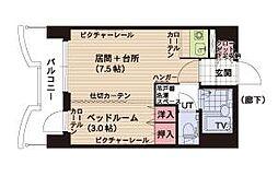 札幌ビオス館[12階]の間取り